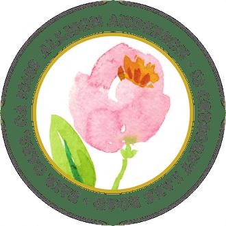Pink Botanical Wreath Round Address Label