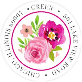 Watercolor Bridal Shower Return Address Sticker