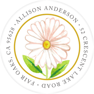 Delicate Daisy Wreath Return Address Sticker