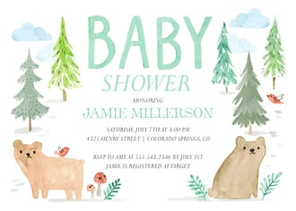 Baby Bear Invitation
