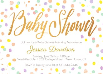Confetti Fun Invitation