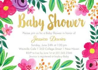 Fun Floral Invitation