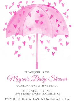 Heart Shower -Pink Invitation