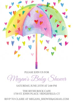 Heart Shower -Multi Invitation
