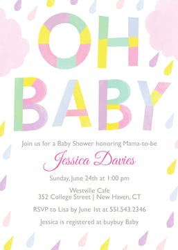 Pastel Shower Invitation