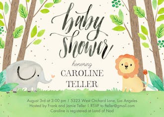 Safari Nursery Invitation