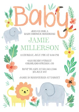 Safari Fun Invitation
