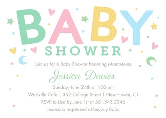 Sweet Baby Invitation