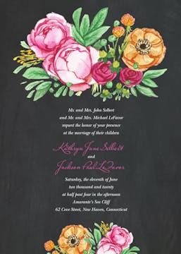 Elegant Bouquet Invitation