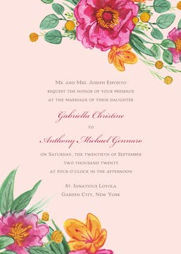 Simply Floral Invitation