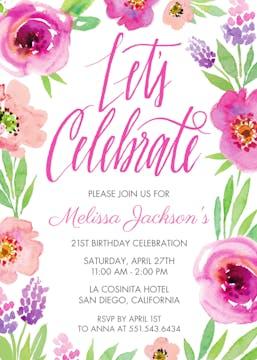 Let's Celebrate Invitation