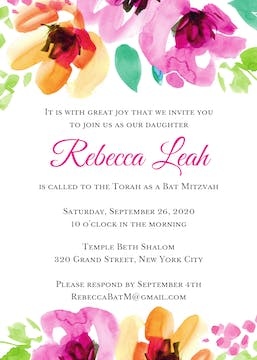 Floral Top Invitation