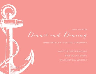 Anchored In Love Reception Card