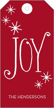 Classic Joy Hanging Gift Tag