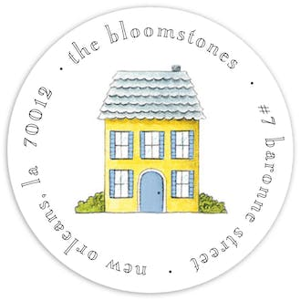 Tiny No Place Like Home Round Address Sticky