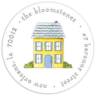 Tiny No Place Like Home Round Address Sticky