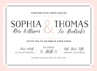 Bold Blush Invitation