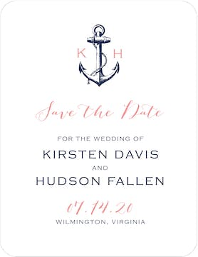 Anchored In Love Save The Date Card