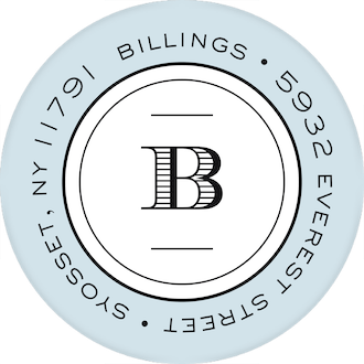 Classic& Clean Round Address Sticky