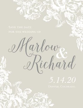 Cheri Amour Save The Date Card