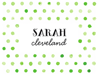 Washed Dot - Lime Folded Note