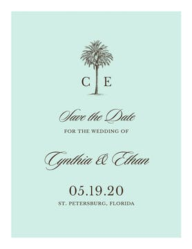 Romantic Getaway Save The Date Invitation