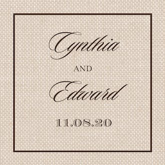 Natural Linen Square Square Sticker