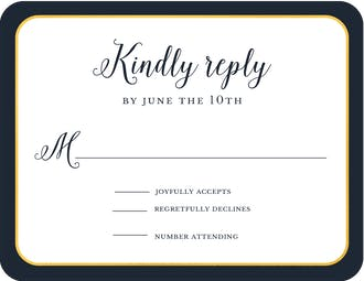Wedding Day Foil Pressed Reply Card