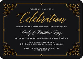 Fancy Foil Frame Foil Pressed Invitation