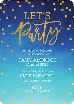 Party Shine Foil Pressed Invitation