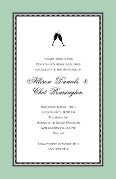 Etched Border - Eucalyptus Invitation
