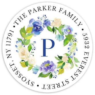 Painted Blooms Return Address Sticker