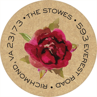 Rustic Romance Return Address Sticker