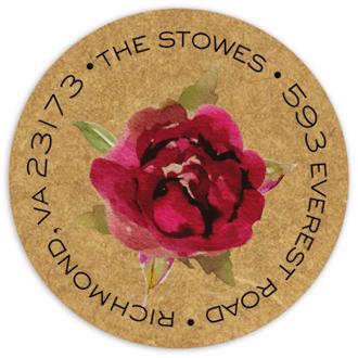 Rustic Romance Return Address Sticker