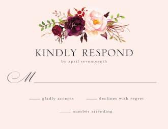 Merlot Bouquet Reply Card