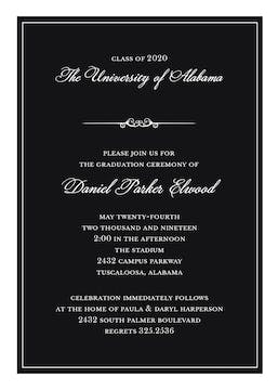 Formal Announcement Invitation