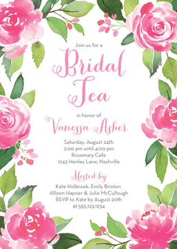 Garden Tea Invitation