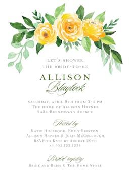 Full Bloom Invitation