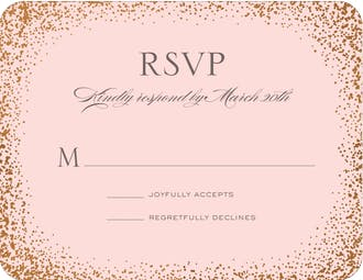Confetti Sparkle Foil Pressed Reply Card