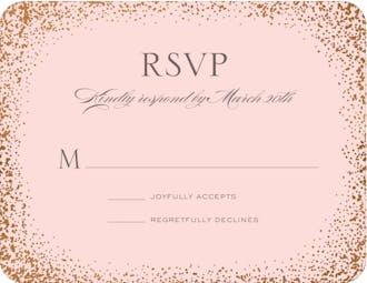 Confetti Sparkle Foil Pressed Reply Card