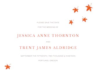 Autumn Leaves Save The Date Invitation