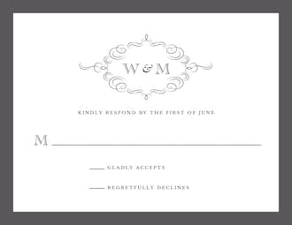 Sophisticated Flourish Response Card