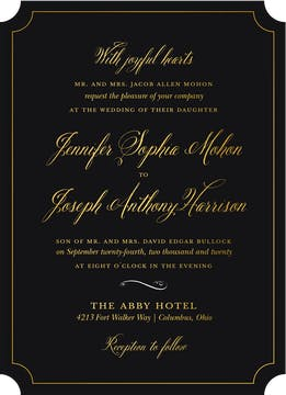 Simply Shining Foil Pressed Invitation