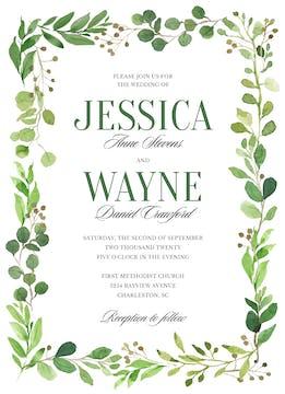 Painted Foliage Invitation
