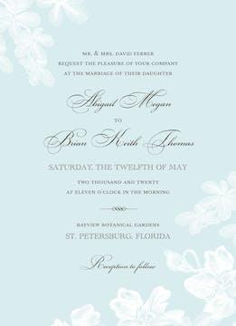Tropical Garden Invitation