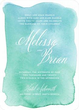 Watercolor Wash Wedding Invitation