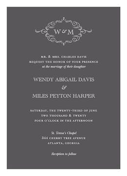 Sophisticated Flourish Invitation