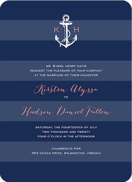 Anchored In Love Wedding Invitation
