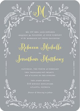 Woodland Border Wedding Invitation