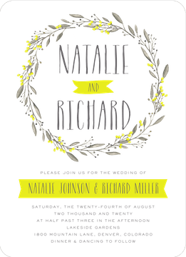 Meadow Wreath Invitation